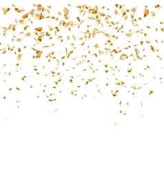 Festive glittering gold confetti falling eps 10 vector