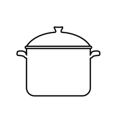 Cooking pot icon menu and kitchen design vector