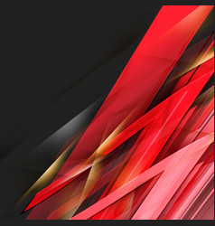 Abstract black and red background futuristic vector
