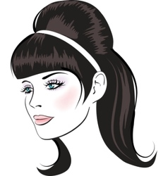 beauty face vector image vector image