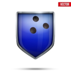 Bright shield in the bowling ball inside vector