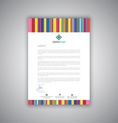 business letterhead with stripes design 1008 vector image vector image