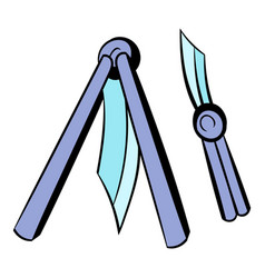 butterfly knife icon icon cartoon vector image