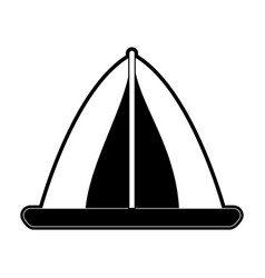 camping tent icon image vector image