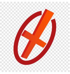 Cancel isometric icon vector