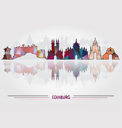 Edinburgh city background vector