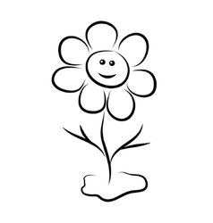 Flower with a smile vector