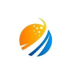 Globe star logo vector