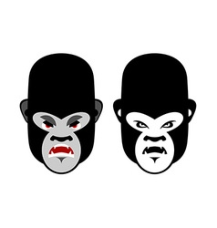 Gorilla mascot head of wild animal aggressive vector