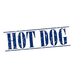 Hot dog blue grunge vintage stamp isolated on vector