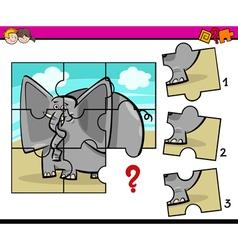 Jigsaw preschool activity task vector
