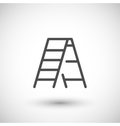 Ladder line icon vector