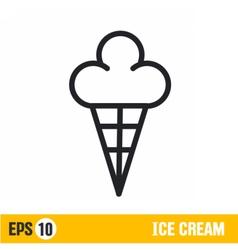Line icon ice cream vector
