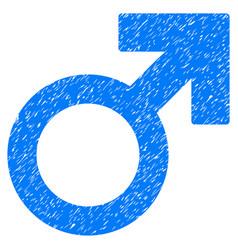 mars symbol grunge icon vector image