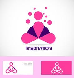 Meditation yoga zen pink logo vector
