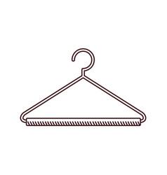 Monochrome silhouette of hook closet shirt vector