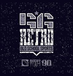 Retro sport team emblem vector