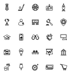 SME line icons on white background vector image