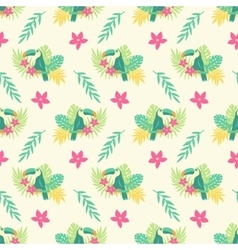 Summer tropical seamless pattern vector image