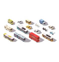 Transport Isometric Set vector image