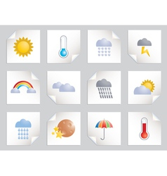 weather icons vector image vector image