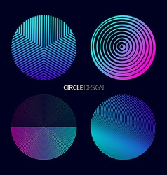 Modern circle design set with geometry designs vector image