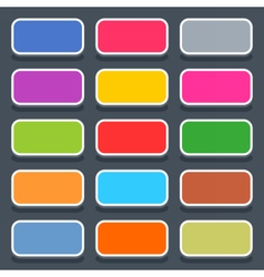 Flat blank web button rounded rectangle icon vector image
