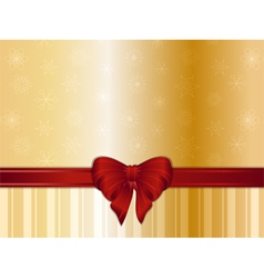 Gold Christmas background and bow vector image