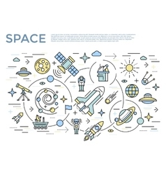 Space Horizontal Concept vector image