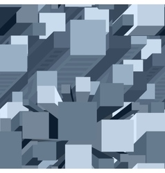 Pixel Architecture Pattern vector image