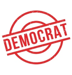 Democrat rubber stamp vector