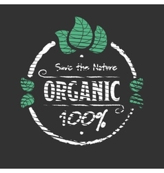 Organic food engraved icon vector