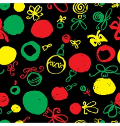 Seamless pattern with decoration balls vector image