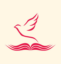The bible and the holy spirit vector