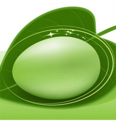 Green egg vector