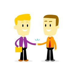 Two businessman shaking hand vector