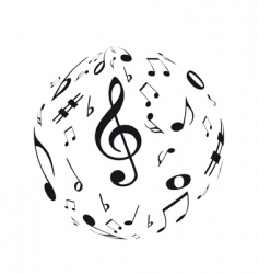 music sphere vector image