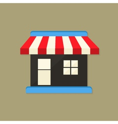 Market shop flat icon vector