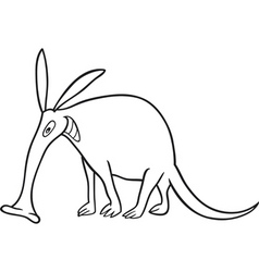 Aardvark for coloring book vector