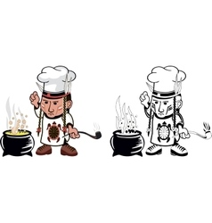 American indian chef vector