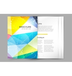 Business card template abstract triangle design vector