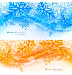Set of xmas banners vector