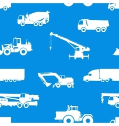 Seamless pattern of cars and vehicles vector