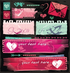 Valentine site banners vector