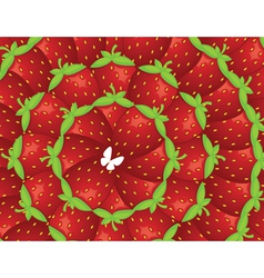 Background of strawberries vector