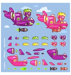 Phantom xxiv plane game sprites vector