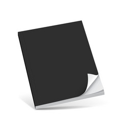 Cover black book with blank vector image