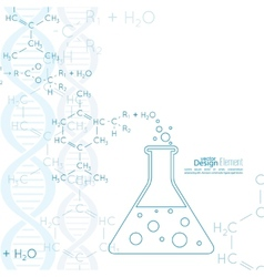 Abstract background with dna molecule structure vector