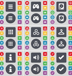 Apps gamepad hard drive apps gear hanger vector