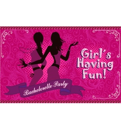 Bachelorette party girls night out vector